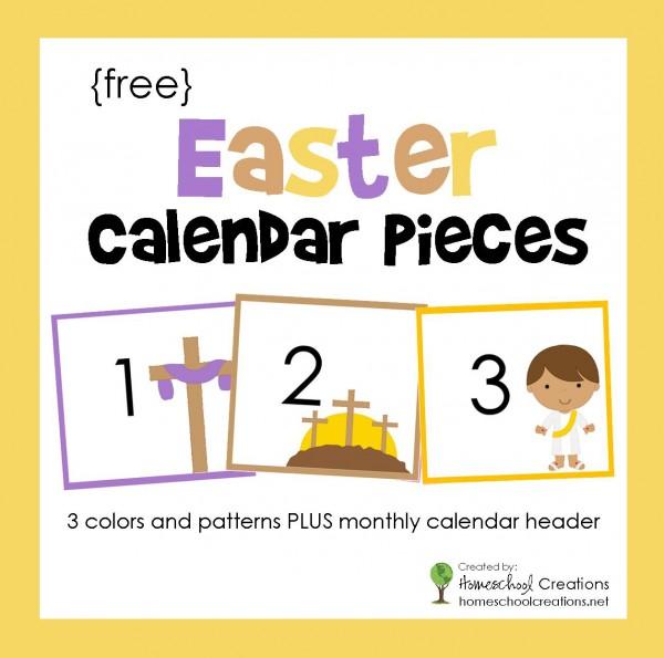 Easter Pocket Chart Calendar Pieces Free Printable