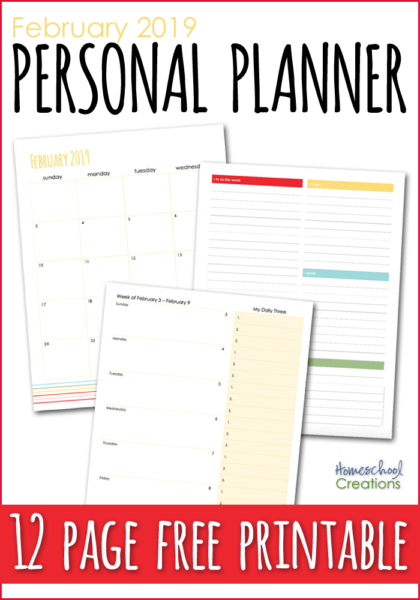graphic about Free Personal Planner Printables identified as February Specific Planner - Totally free Printable