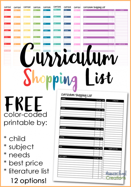 Homeschool curriculum shopping list - a printable to help you track curriculum needed, wanted, and purchased with best prices from Homeschool Creations_edited-1