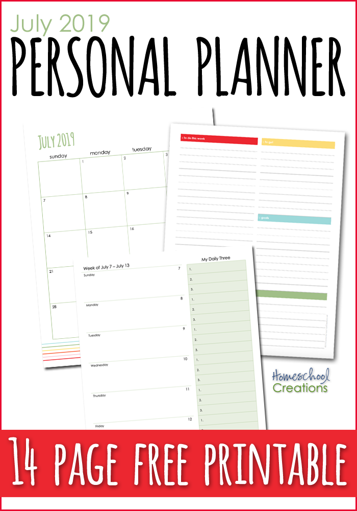 July 2019 Planning Pages - FREE Printable