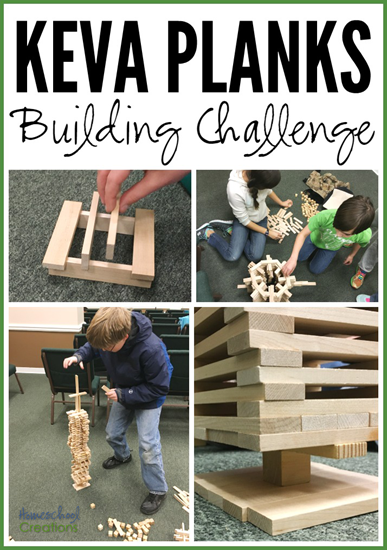 Keva Building Challenges from Homeschool Creations