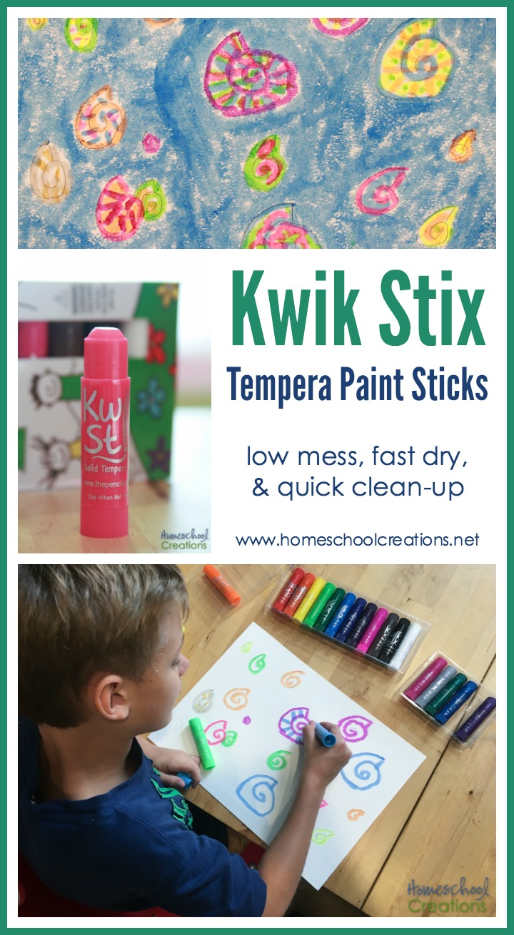 Kwik stix paints review art supplies every family needs for Fast drying craft paint