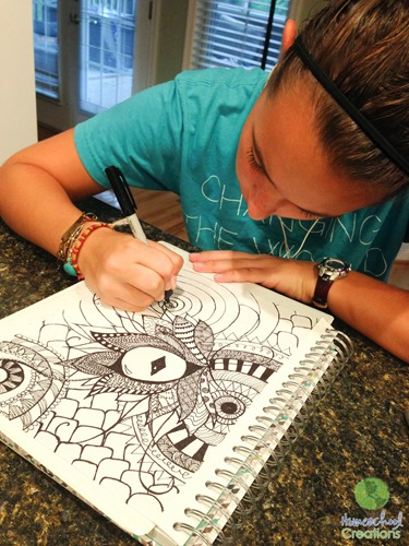 Doodle Art Coloring Pages