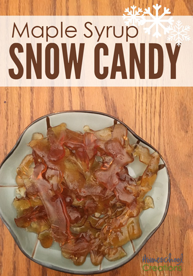 Maple syrup snow candy recipe