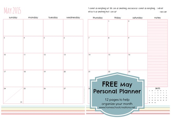 Download The May Personal Planner Pages. May Daily Planner  Free Daily Planner Download
