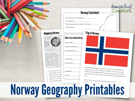 Norway Geography Printables - Free Educational Printable