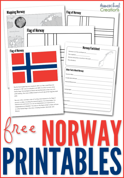 Norway Geography Printables Free