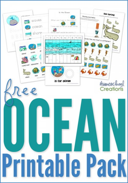 Ocean printable pack for preschool and kindergarten