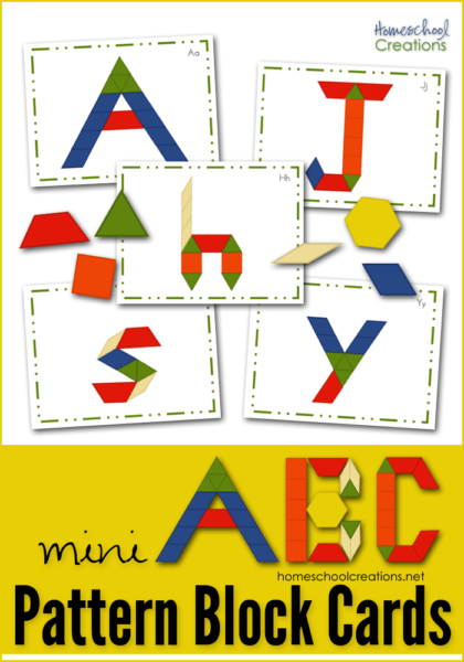picture relating to Printable Pattern Block Templates named Practice Block Mats and Playing cards - Clean Printables