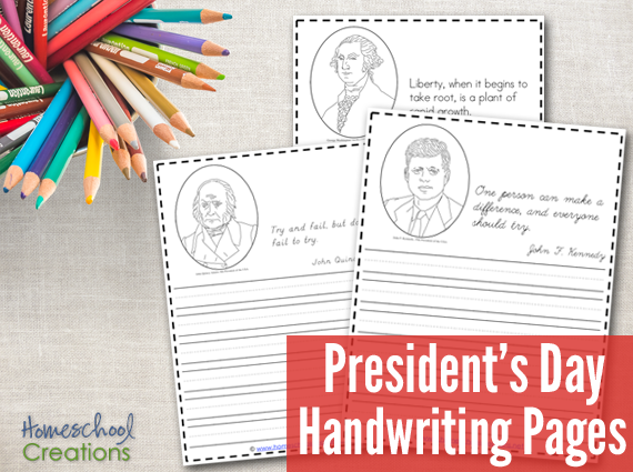 When Is President Day >> President S Day Handwriting Pages Free Printables