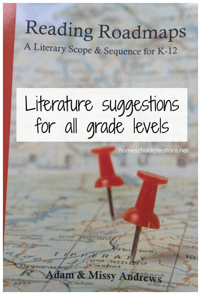 Reading Roadmaps literature suggestions for homeschool
