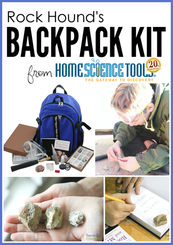 Rock Hounds Backpack Kit - exploring and learning about rocks with kids copy