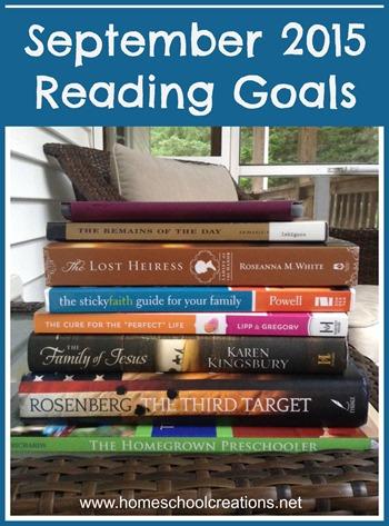 September reading goals