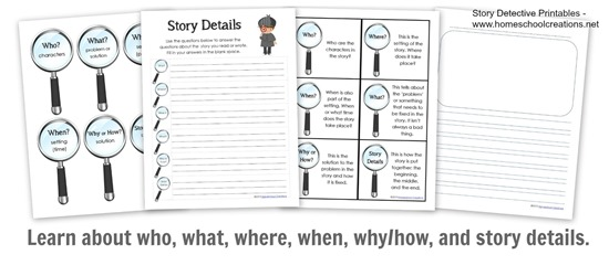 Story detective worksheets at a glance