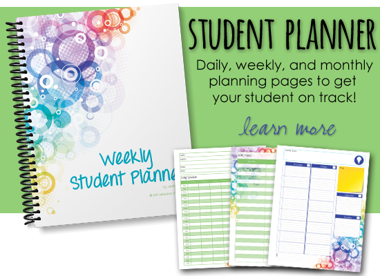 Student planner from Homeschool Creations - help get your student on track