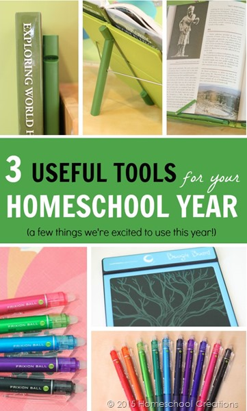 Three useful tools for your homeschool year