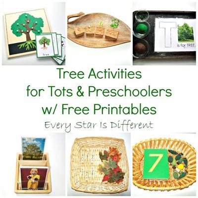 Tree Activities for Tots & Preschoolers w Free Printables