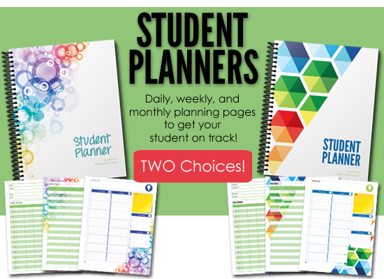 Two choices of student planners from Homeschool Creations - help get your student on track