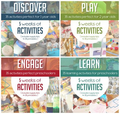 Weekly Activities for Kids ages 1 to 5