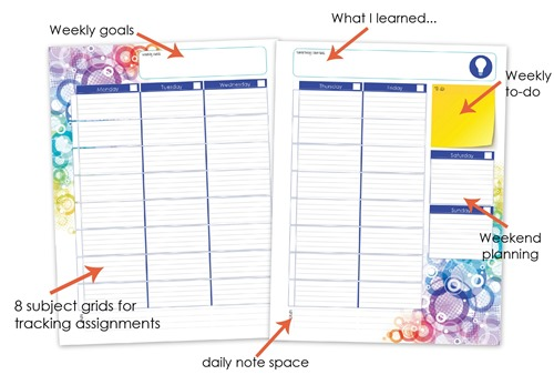 weekly student planner layout from homeschool creationsjpg