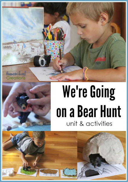 We're Going on a Bear Hunt preschool unit and activities from Homeschool Creations