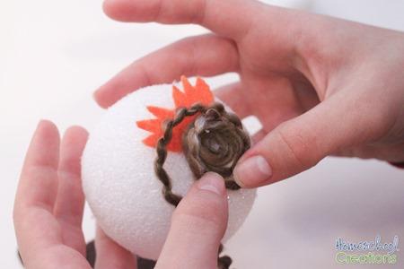 Yarn Owl Craft tutorial {%{% Homeschool Creations 2015-5