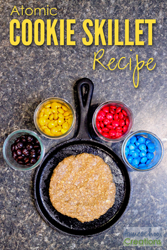 atomic cookie skillet - hands on learning about atoms {%{% Homeschool Creations 2015
