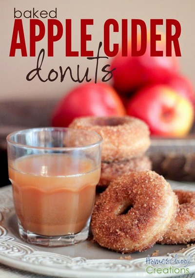 baked apple cider donut recipe - no yeast donuts that are perfect for a fall day  Homeschool Creations
