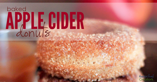 baked apple cider donuts recipe {%{% Homeschool Creations