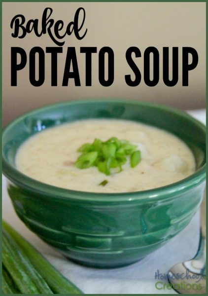 baked potato soup recipe - full of bacon, cheese, potatoes, and plenty of comfort