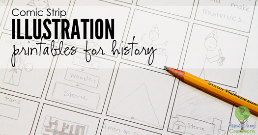comic strip illustration printables for history {%{% Homeschool Creations