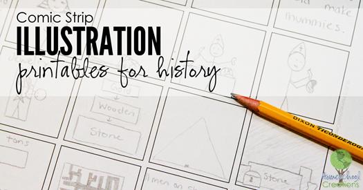 comic strip illustration printables for history {%{% Homeschool Creations