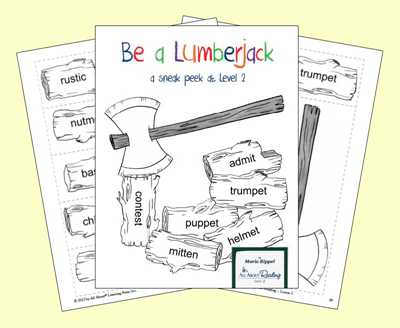Be a Lumberjack syllable game