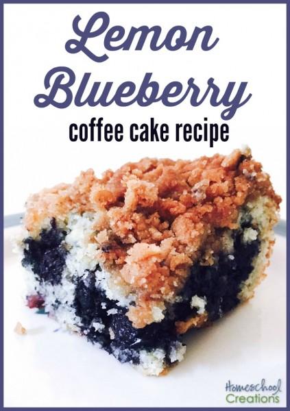 lemon blueberry coffee cake recipe from HomeschoolCreations.net - yummy breakfast treat!