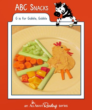 preschool turkey snack g is for gobble