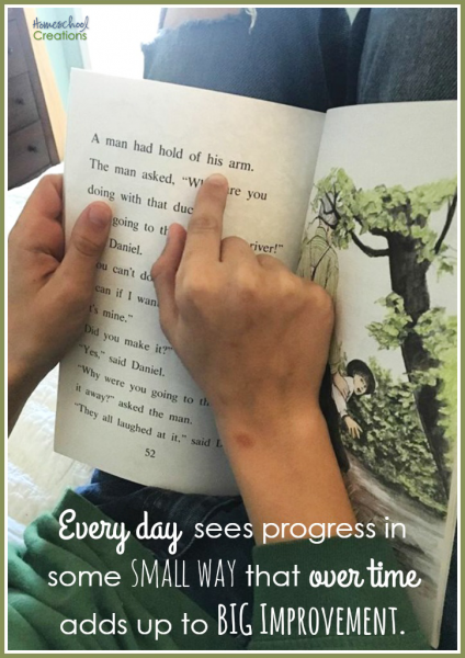 progress in small way adds up to big improvement - HomeschoolCreations