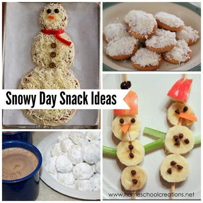 snowy day snack ideas