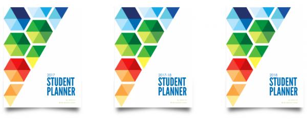 student planner hexagon