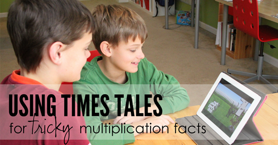 times tales for learning multiplication facts