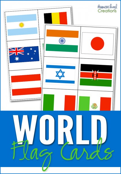 world flag cards for matching